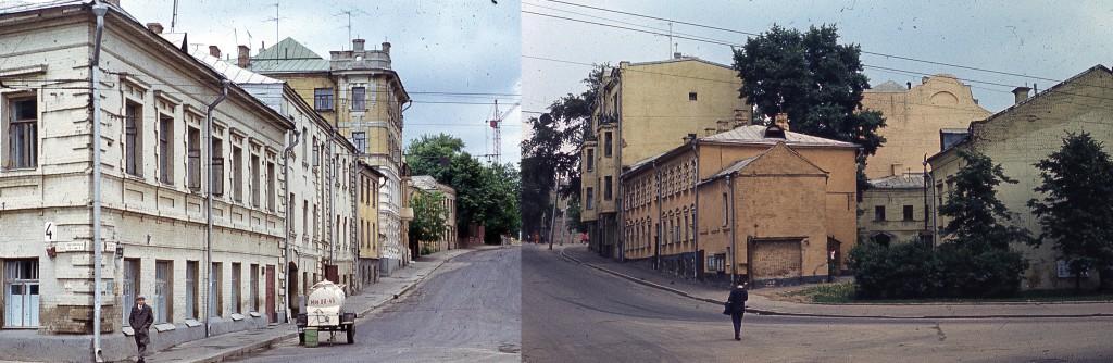 Троицкая улица с Самотечного проезда: панорама 1974-76 годов