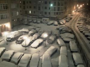 Мой двор в снегу