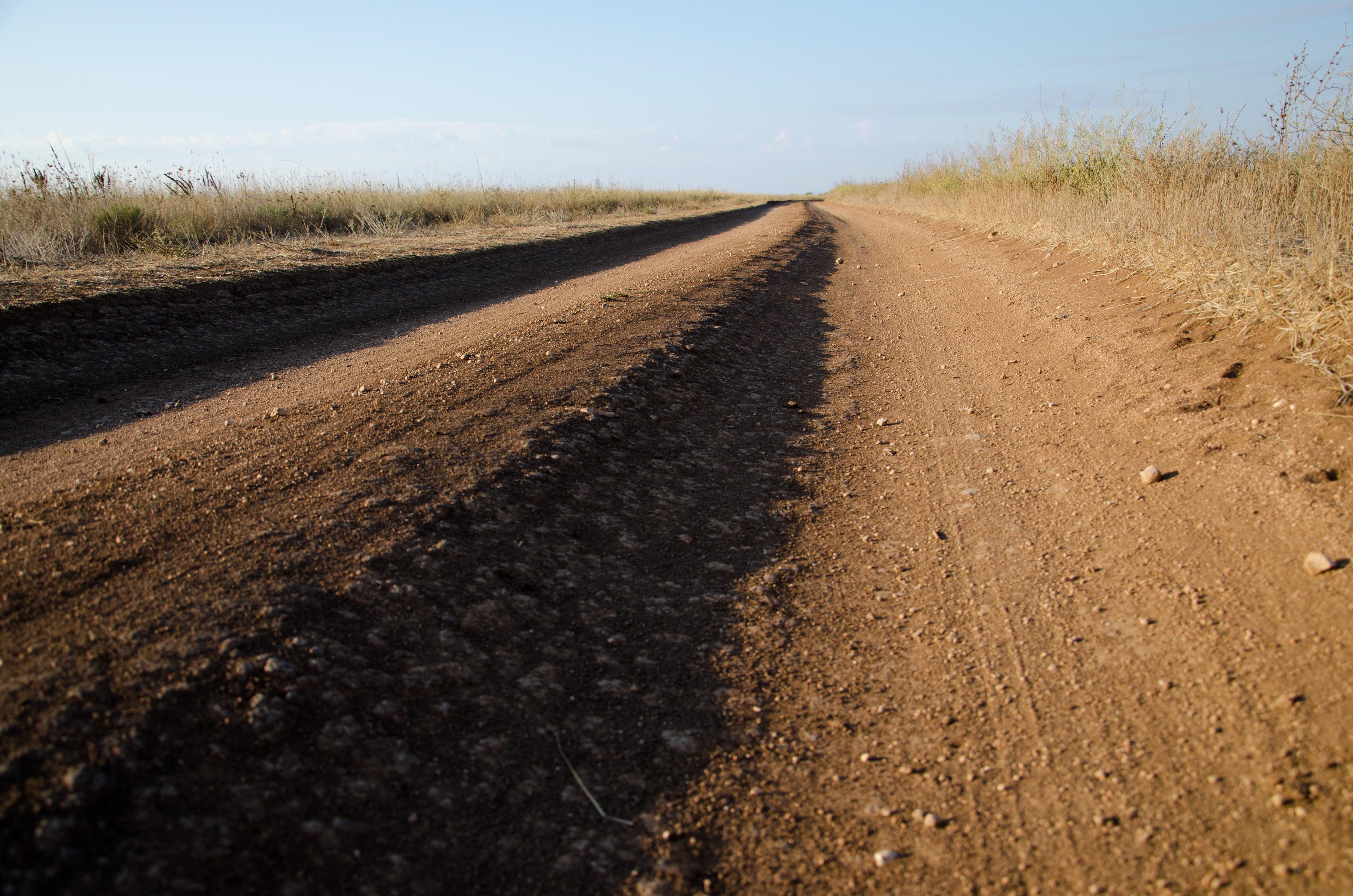Это еще не самая плохая дорога на Тарханкуте