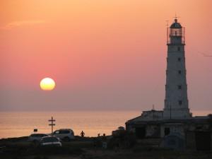 Тарханкутский маяк на закате