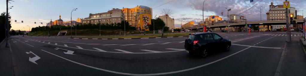 Олимпийский проспект, Троицкая улица, Самотека: панорама, 2014
