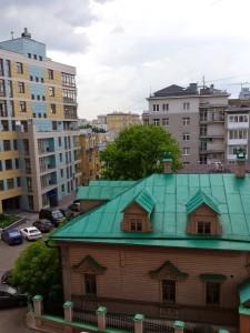 Вид с Троицкой улицы на Самотечную площадь. 2014